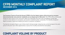 CFPB Complaint Report December 2017